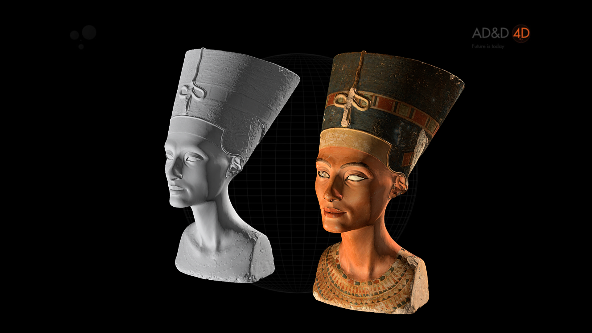 Unlit version of the Nefertiti bust